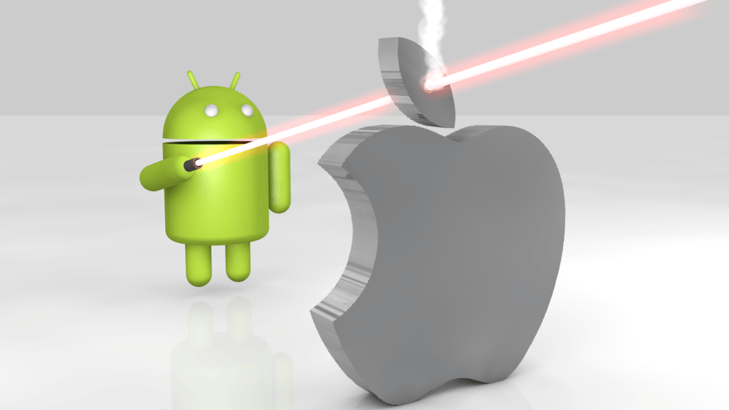 Laser shooting Apple