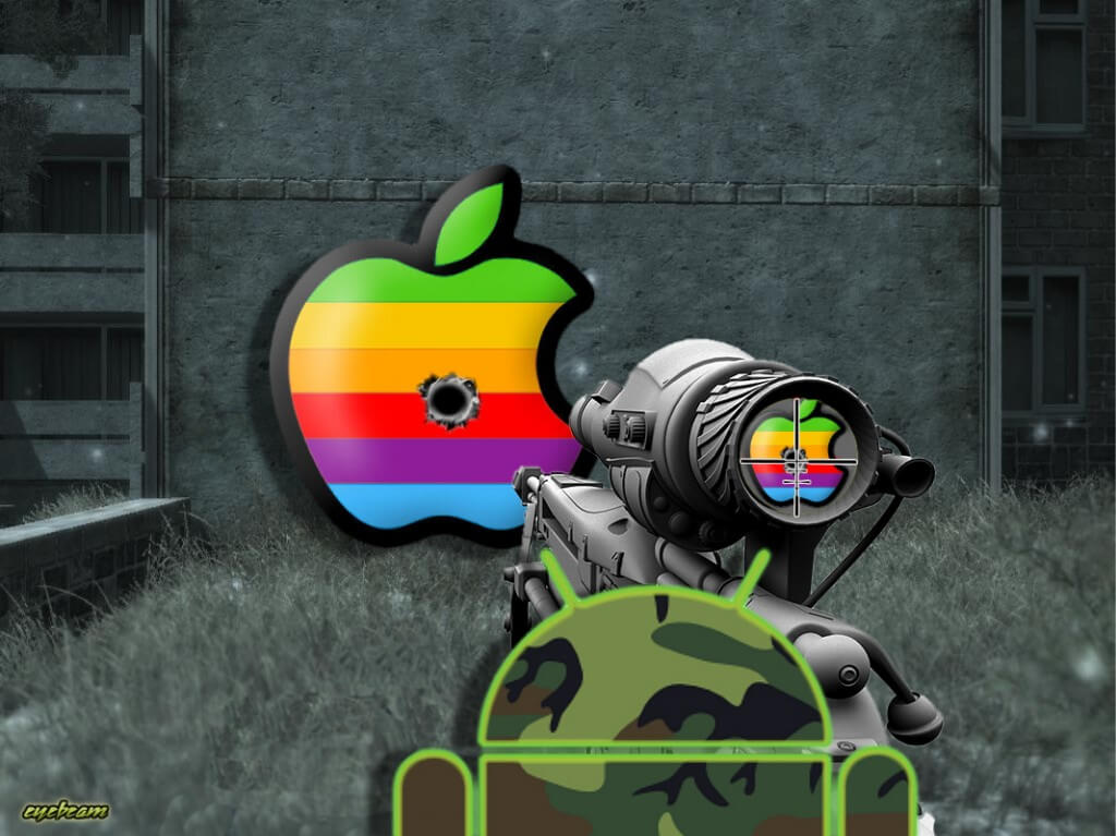 Android shoots Apple
