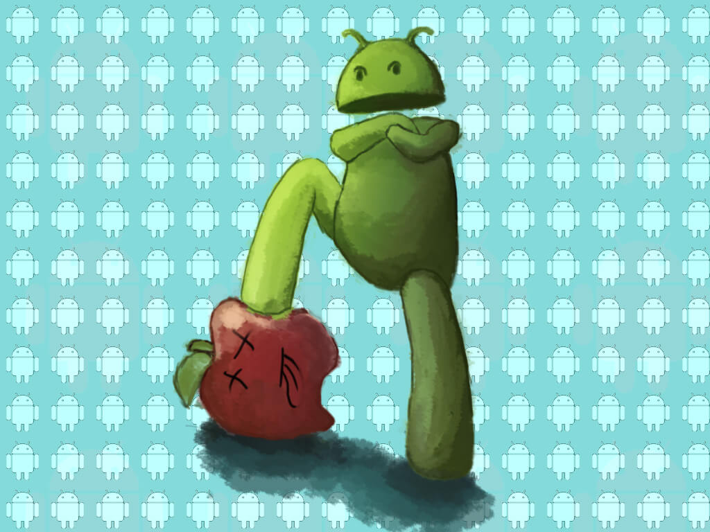 Android Stabbing Apple