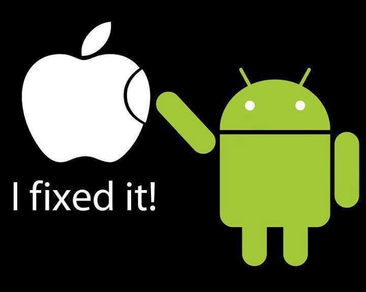 Apple gets a fix from Android
