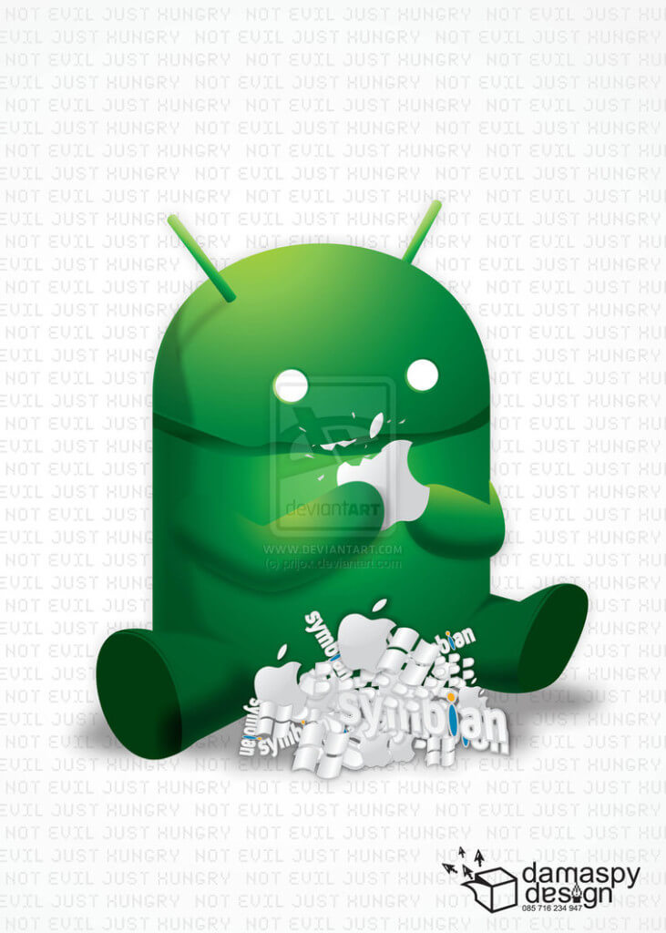 Android eats other mobile OS
