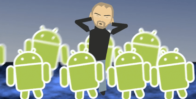 Android messing with Steve Jobs