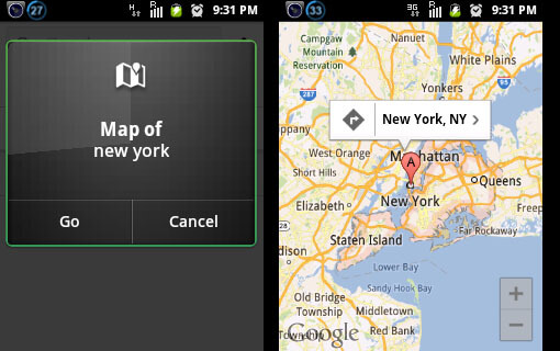 Android Voice Command: Map of