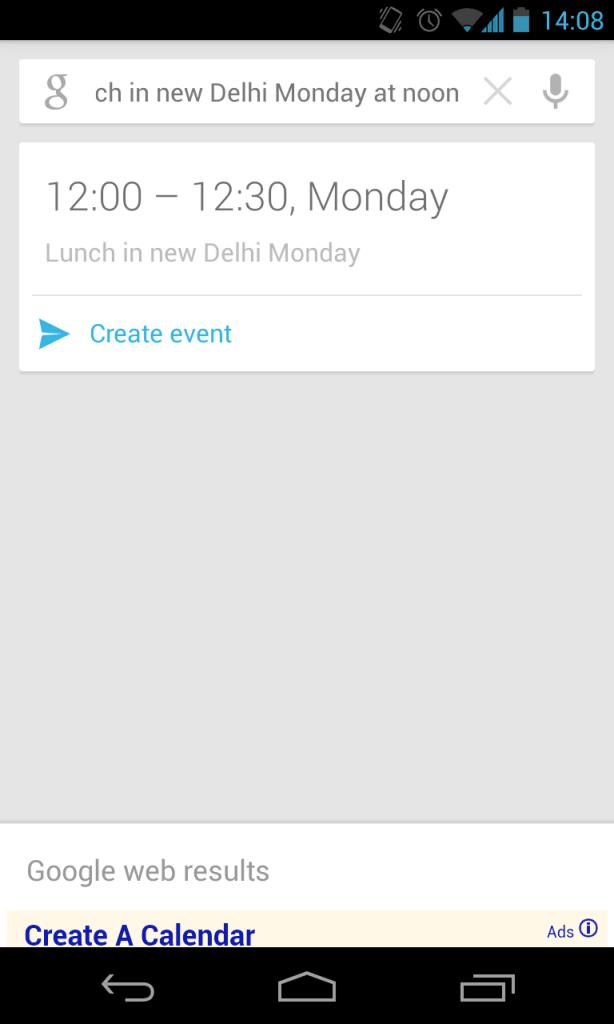Create a calendar event