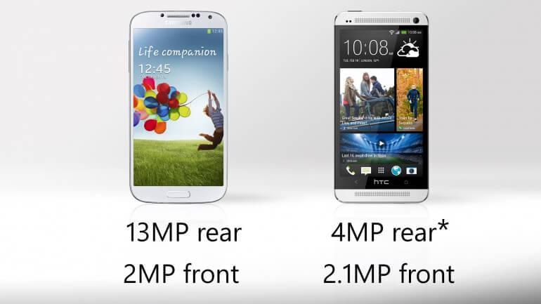Samsung galaxy S4 vs HTC One - Camera Capabilities