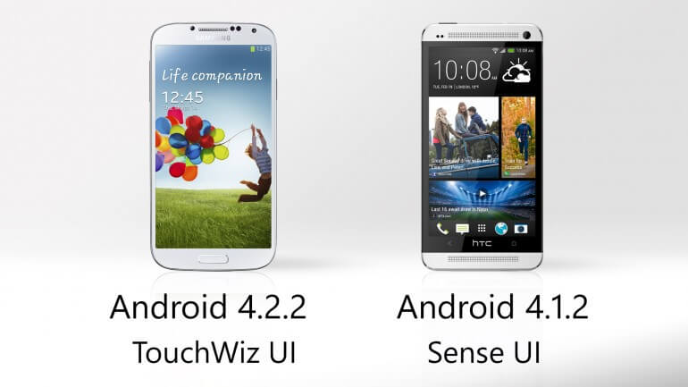 Samsung galaxy S4 vs HTC One OS Version