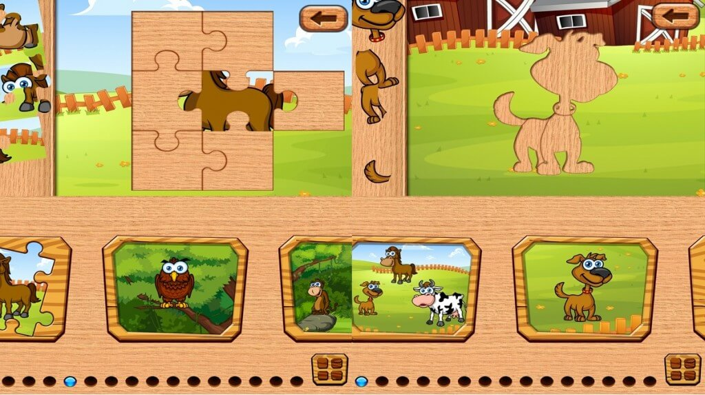 Fun Animal Puzzles Toddler Kid