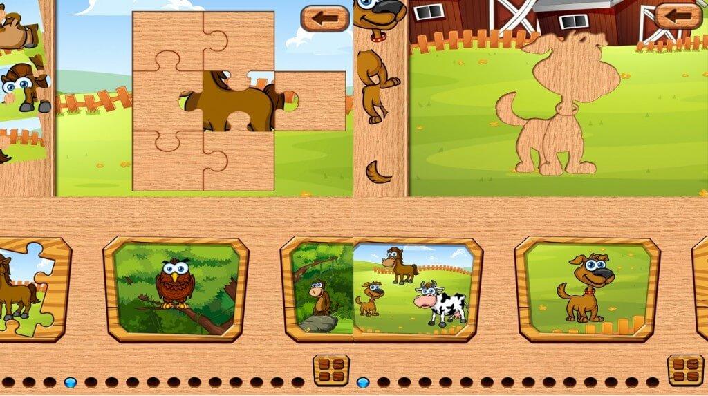 Fun Animal Puzzles Toddler Kid