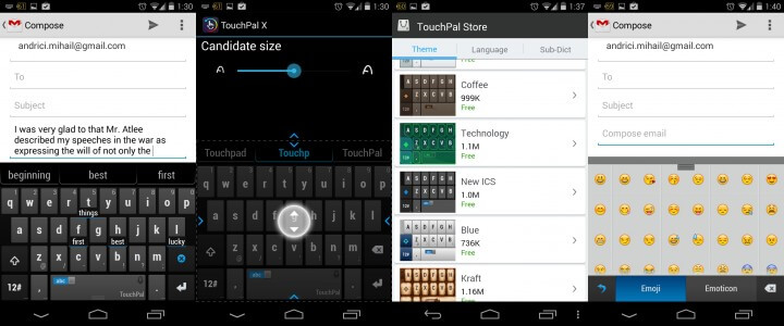 TouchPal X Screenshots