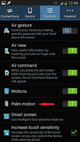 palm motion