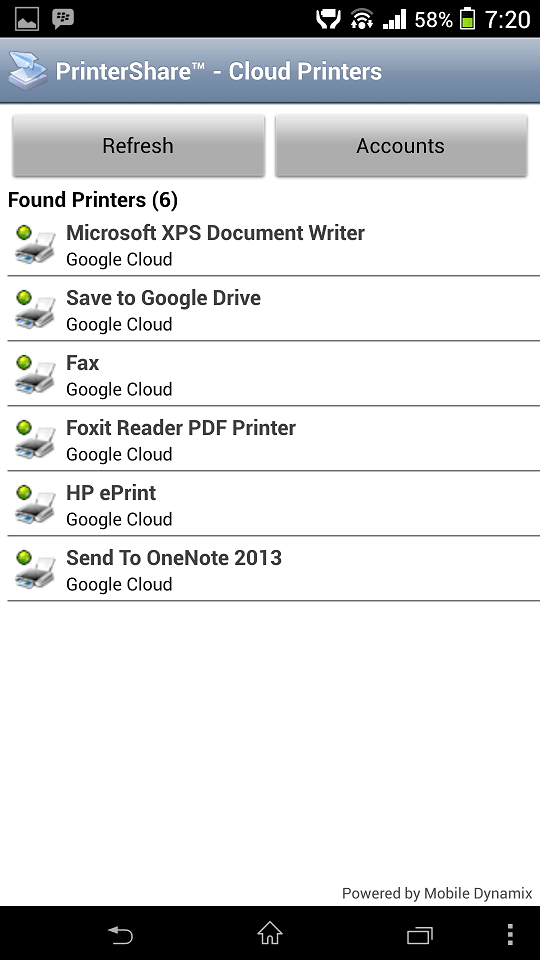 cloud printers list