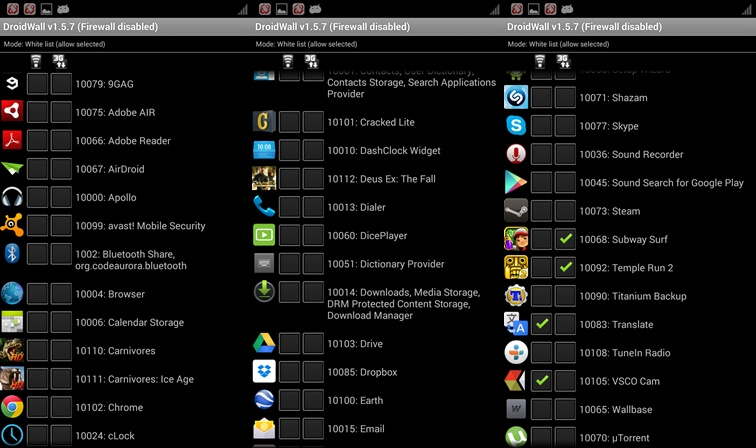 droidwall Best Android Security App