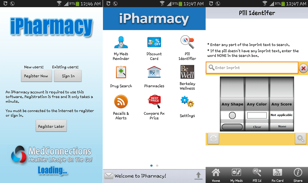 Ipharmacy medical apps for Android