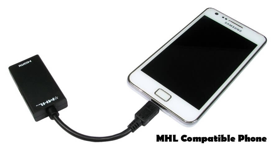 MHL Plugged into Samsung Phone