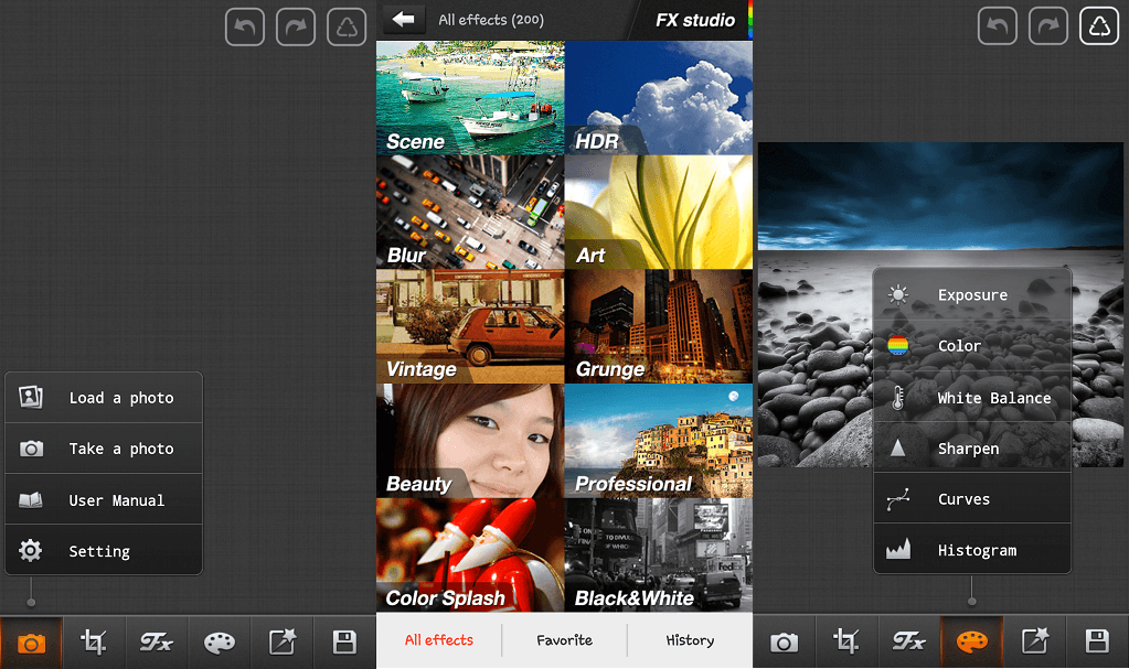 Picsplay photo editing application for Android