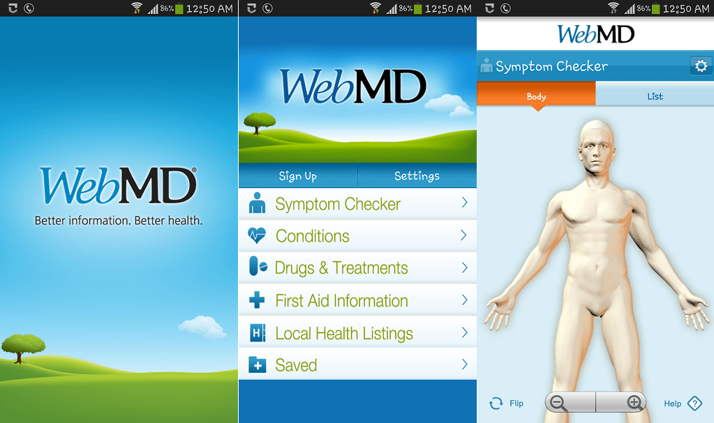 WebMD-medical apps for Android