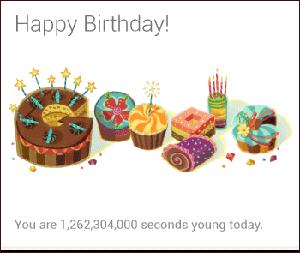Birthday Google Now