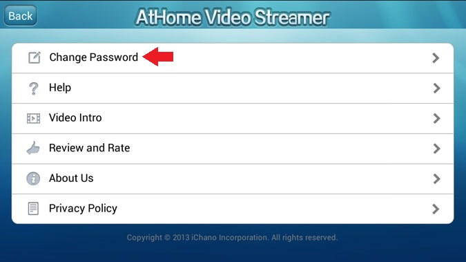 Change Password AtHome
