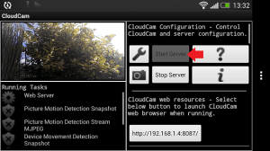 Cloud Spy Cam Start Server