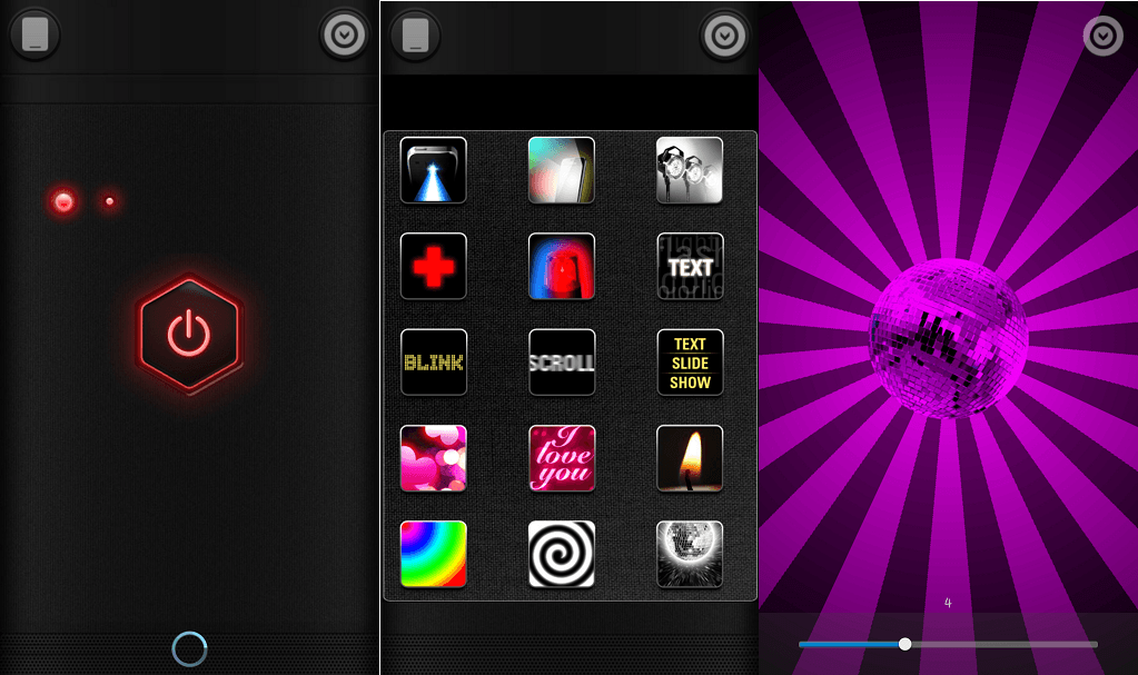 color flashlight flashlight app for Android