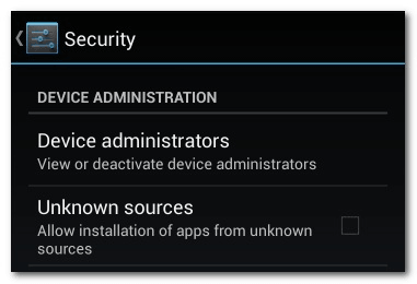 Device administrators Android Device Manager