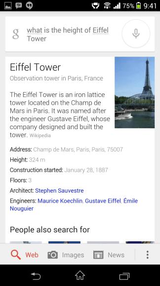 Eiffel Tower Google Now