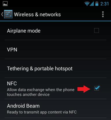 Enable NFC