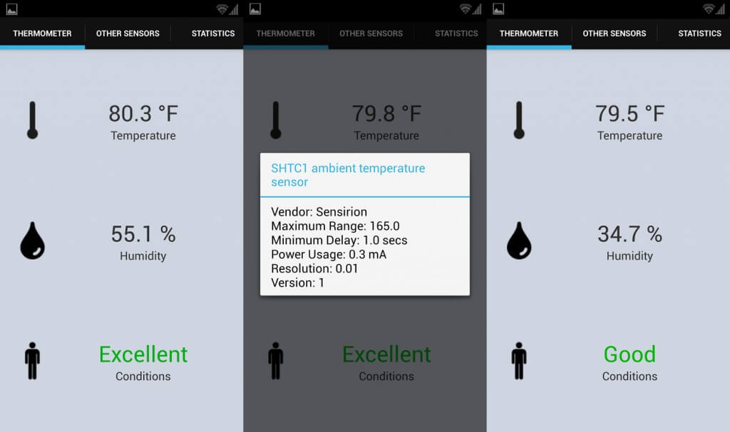 Galaxy s4 all in one thermometer App
