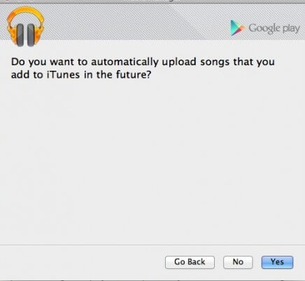 Google Music Manager automatically upload songs