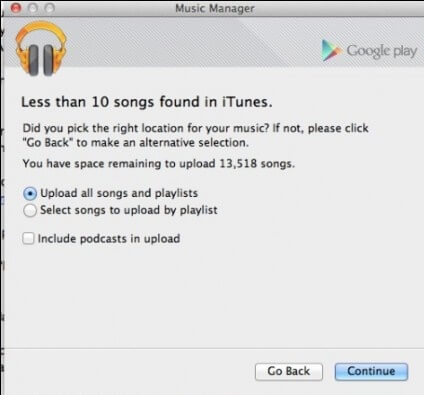 Google Music Manager upload all playlists