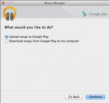 Google Music Manager upload songs