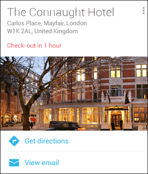 Hotel Reservation Google Now
