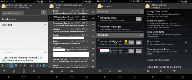 k@ mail evolved android