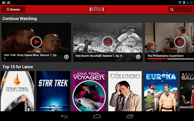 Netflix app Android