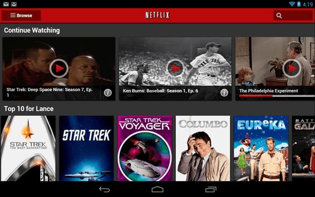Netflix app Android