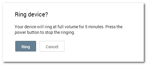 Ring Android Device Manager