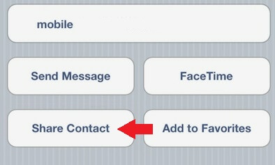 share contact iphone