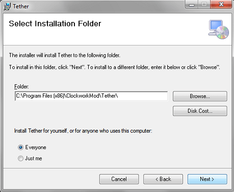 Clockworkmod installer