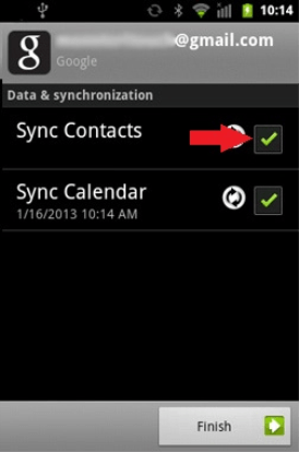 Sync Google contacts