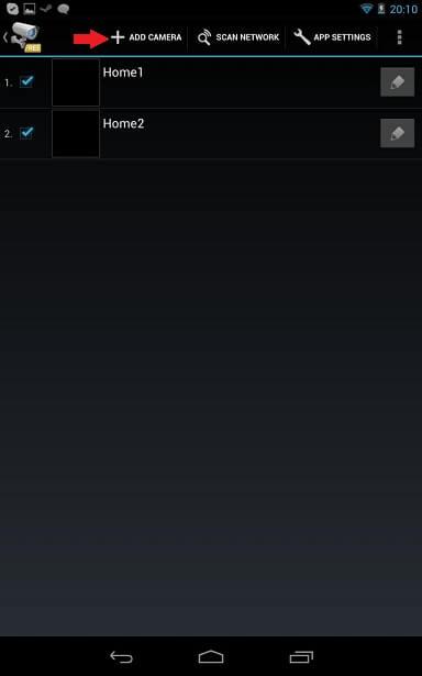 TinyCam Monitor Add Camera