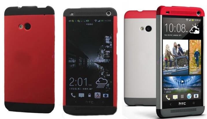 Tri-color Double Dip HTC One case