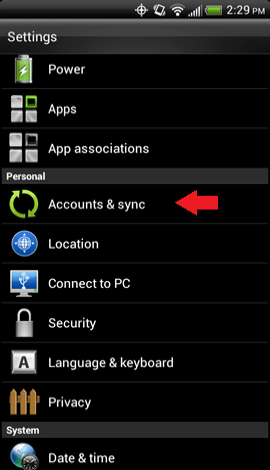 Accounts and Sync