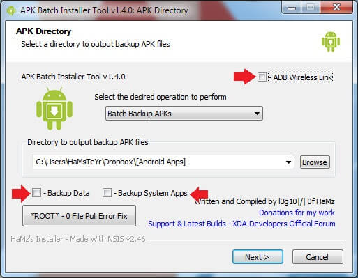 ADB Wireless Batch Backup