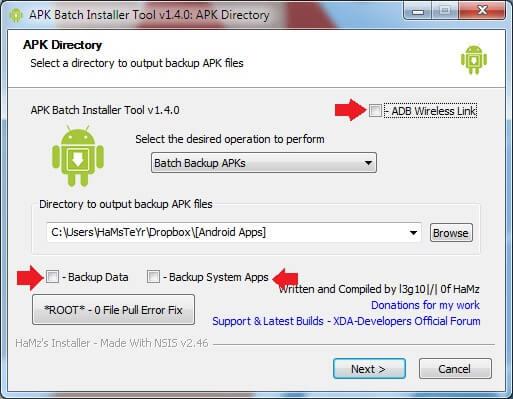 ADB Wireless Batch Backup