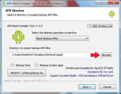Batch Backup Browse