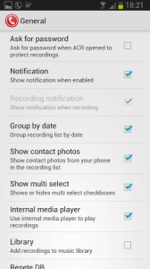 Call Recorder General Settings