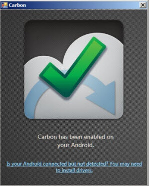 Carbon Enabled message