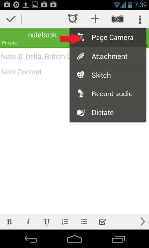 Evernote Page Camera