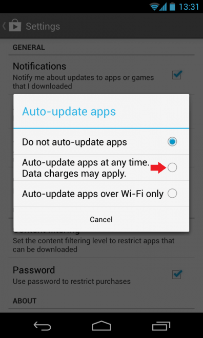 Google Play Auto Update