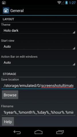 Screenshot Ultimate Settings